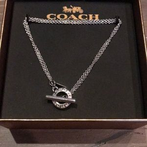 🎁 {COACH} Silver Toggle Bracelet. New w/ Tags.